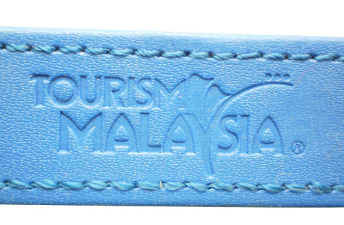 logo embossed on PU