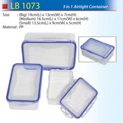3 in 1 Airtight Container (LB1073)