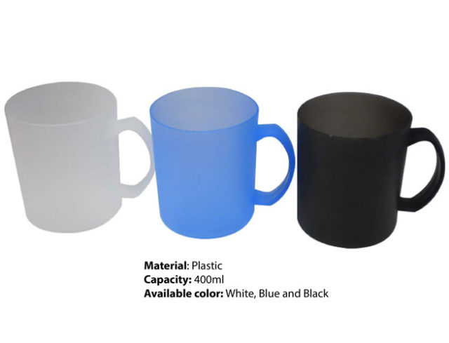 Budget plastic mug supplier