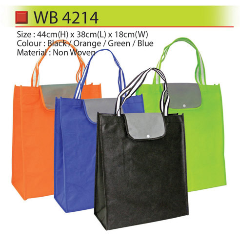 Non Woven Bag with button (WB4214)