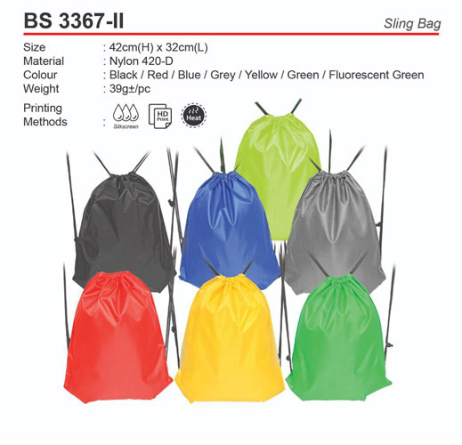 Drawstring Nylon Bag (BS3367-II)