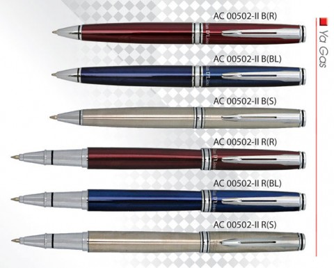 Available Colours: Red, Black, Silver Remarks: Available in Ball pen (AC00502-IIB) or Roller Pen (AC0002-IIR)