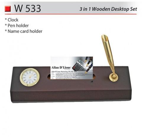 3 in 1 Wooden Desktop Set (W533)