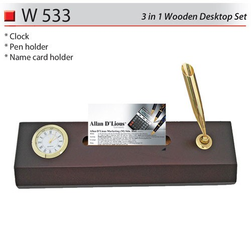 3 in 1 Wooden Desktop Set (W533)