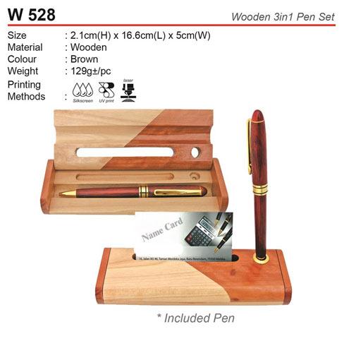 3 in 1 Wooden Pen Set (W528)