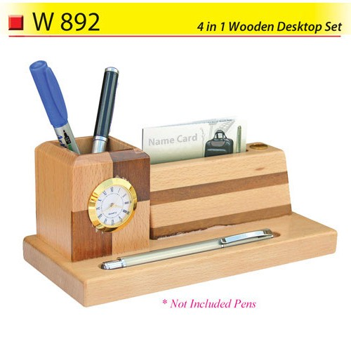 4 in 1 Wooden Desktop Set (W892)