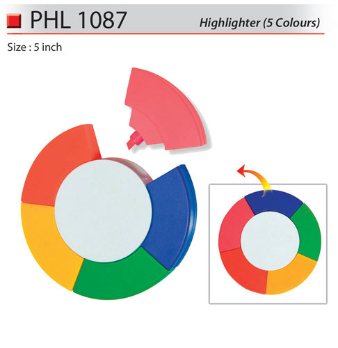 5 colours Highlighter (PHL1087)