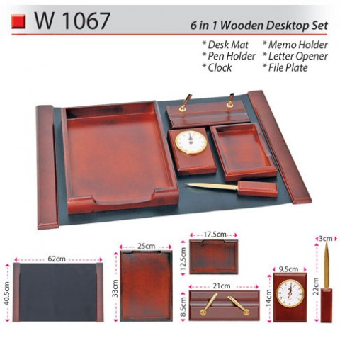 6 in 1 Wooden Desktop Set (W1067)