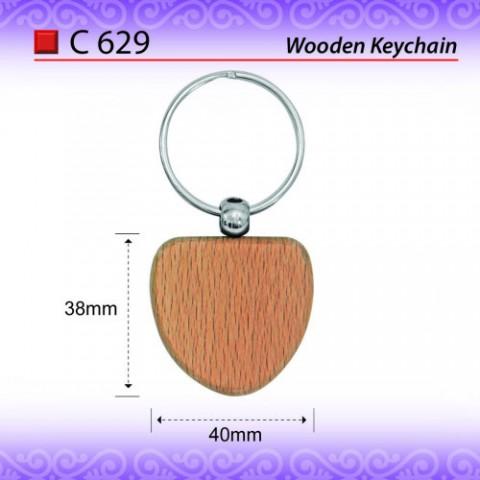 Round Wooden Keychain (C628)