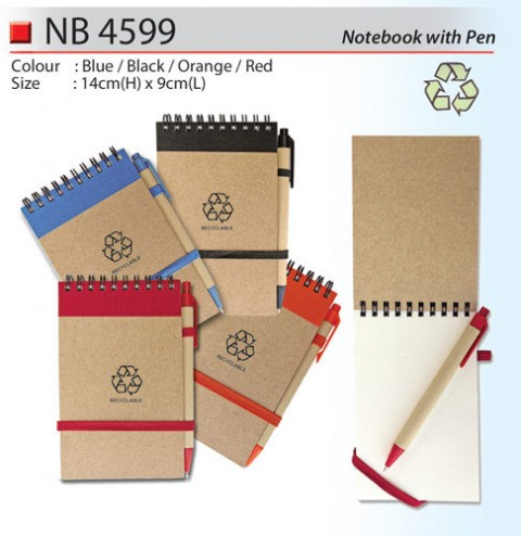 Mini Notebook with Pen (NB4599)