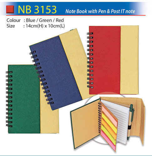 Notebook with pen & post IT note (NB3153)