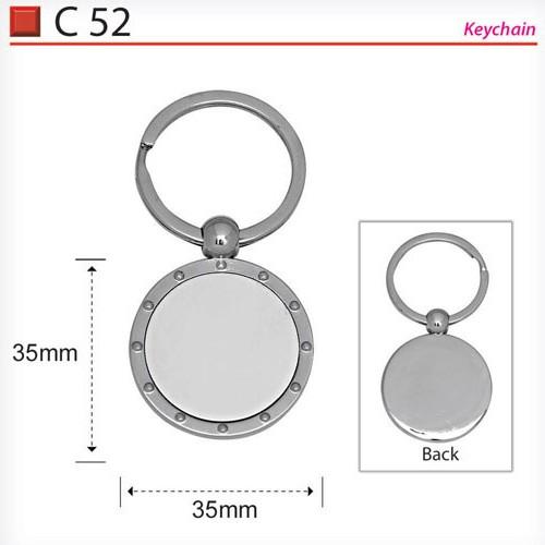 Round Metal Keychain (C52)