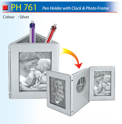 Pen Holder with Clock (PH761)