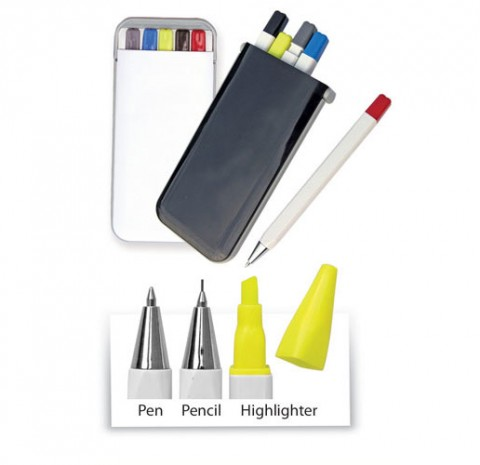 Pen Set with Pencil and Highlighter (Y1722)