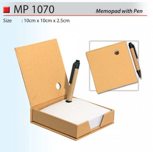 Recycle Memo Box wih Pen (MP1070)