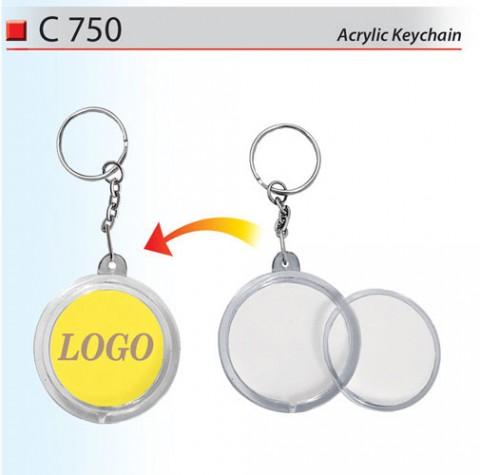 Round Acrylic Keychain (C750)