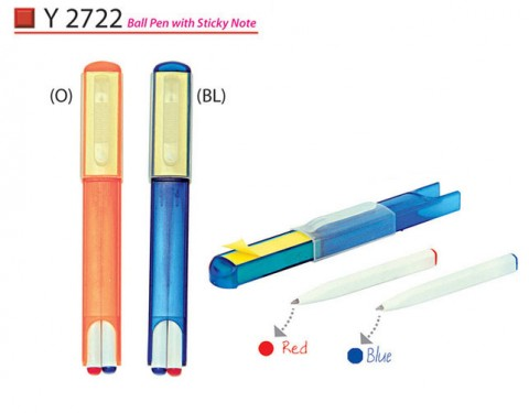 Pen set with sticky note (Y2722)