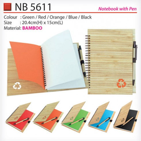 Bamboo Notebook with pen (NB5611)