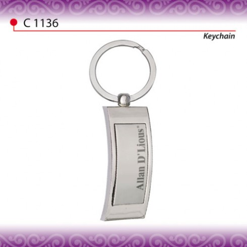 Branded Metal Keychain (C1136-AD)