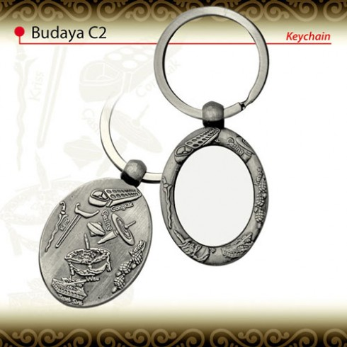 Budaya Malaysia Metal Keychain (C2)