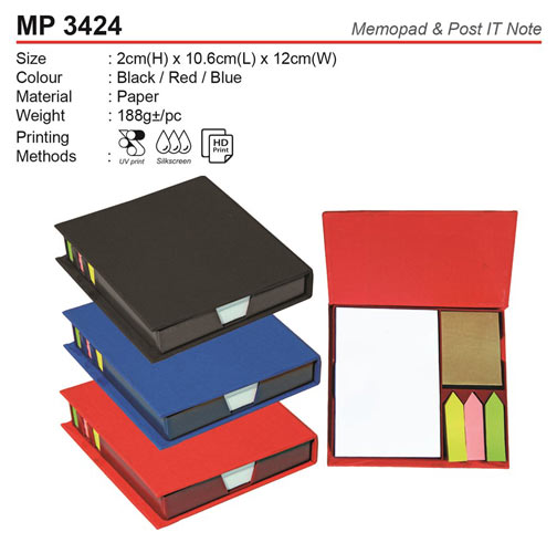 Memo Box with Post IT Note (MP3424)