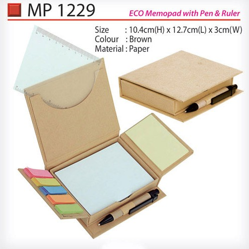 Eco Memobox with pen & ruler (MP1229)