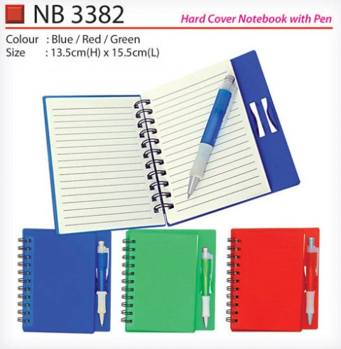 Hard Cover Notebook with pen (NB3382)
