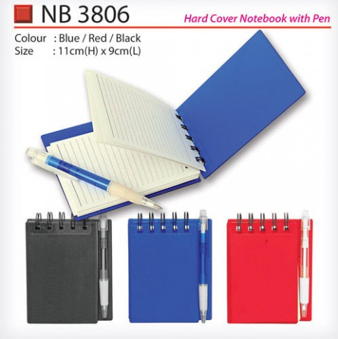 Hard Cover Notebook with Pen (NB3806)