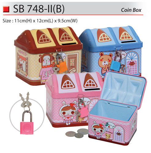 House Shaped Coin Box (SB748-IIB)