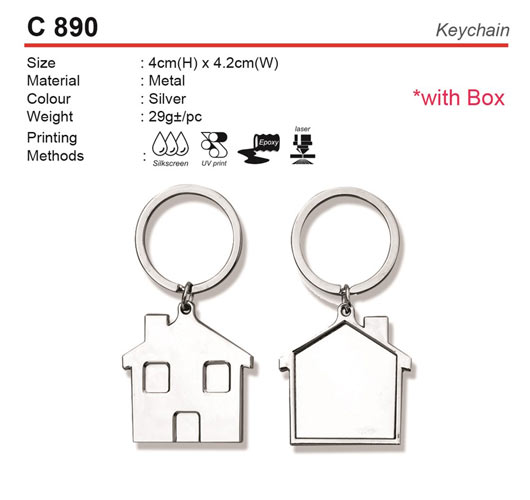 House Shaped Keychain (C890)