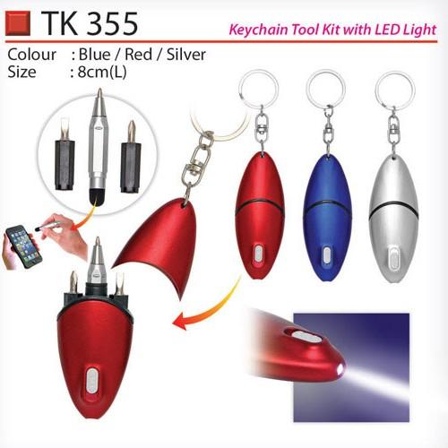 Keychain Tool Kit with Light (TK355)