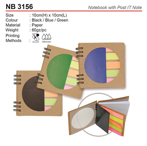 Note book with Post IT note (NB3156)