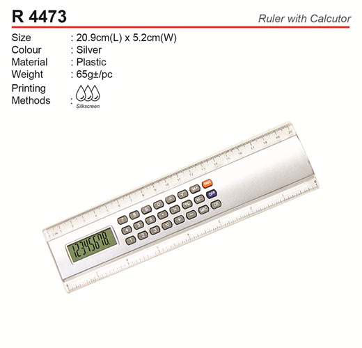 Ruler with Calculator (R4473)