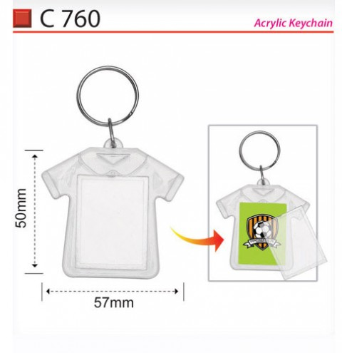 T-shirt Shape Plastic Keychain (C760)