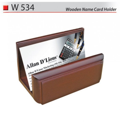 Wooden Name Card Holder (W534)