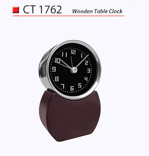 Wooden Table Clock (CT1762)