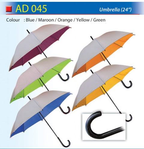 Budget Umbrella with Silver coated (AD045)