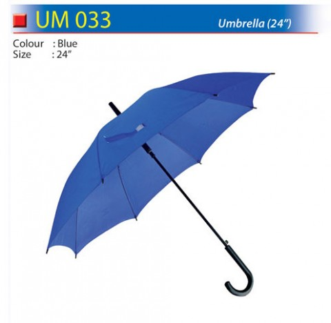 24 inch solid color umbrella (UM033)