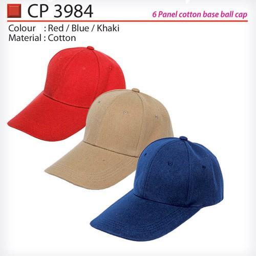 6 Panel Cotton Cap (CP3984)