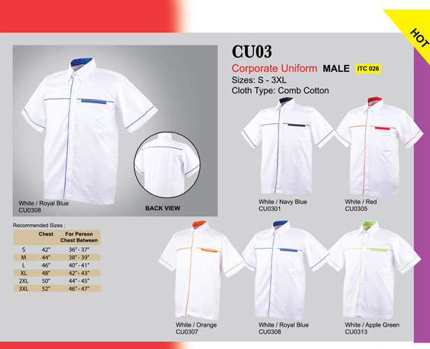 Corporate Uniform Male CU03