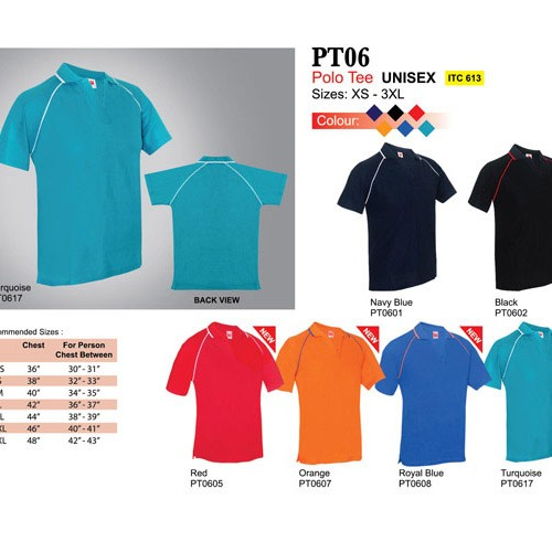 V-Neck Polo T Shirt (PT06)