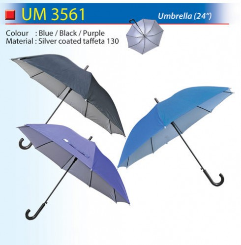 Umbrella with inner Silver Coated (UM3561)