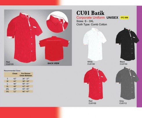 Corporate Uniform Batik (CU01)