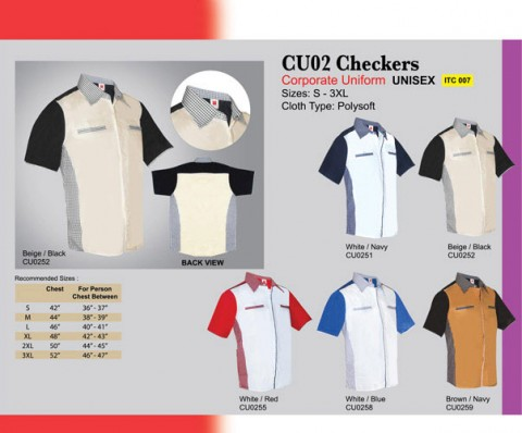 Corporate Uniform with Checkers (CU02)
