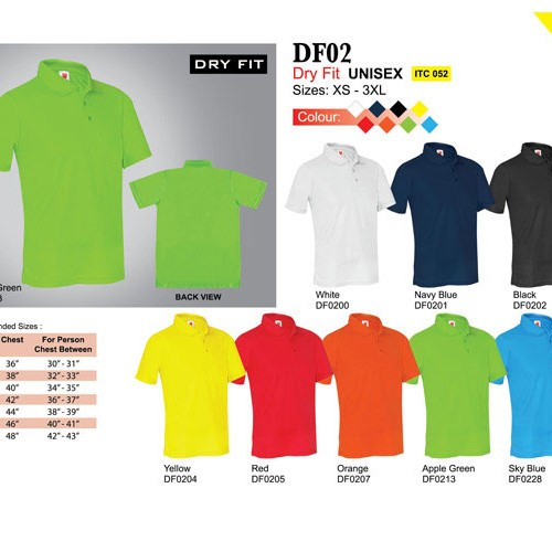 Dry Fit Polo Tee (DF02)