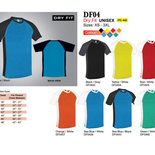 Dry Fit Round Neck Shirt (DF04)