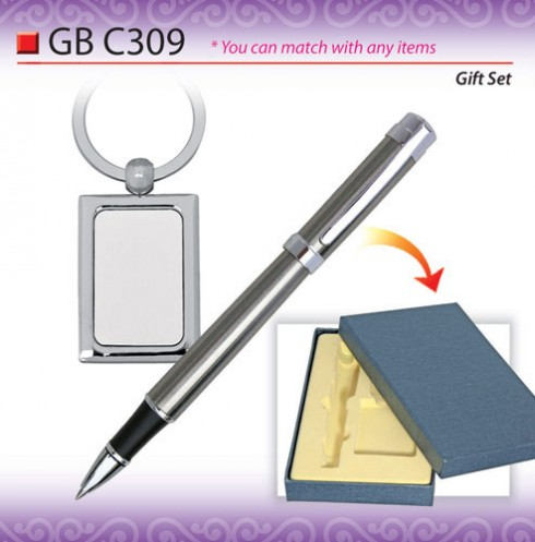 Metal Pen with Keychain Set (GBC309)