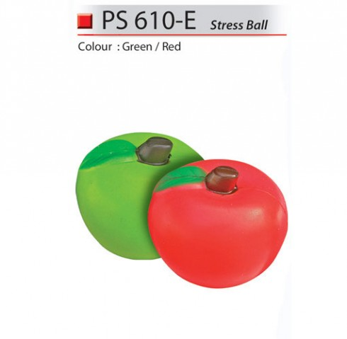 Apple Shaped Stress Ball (PS610-E)