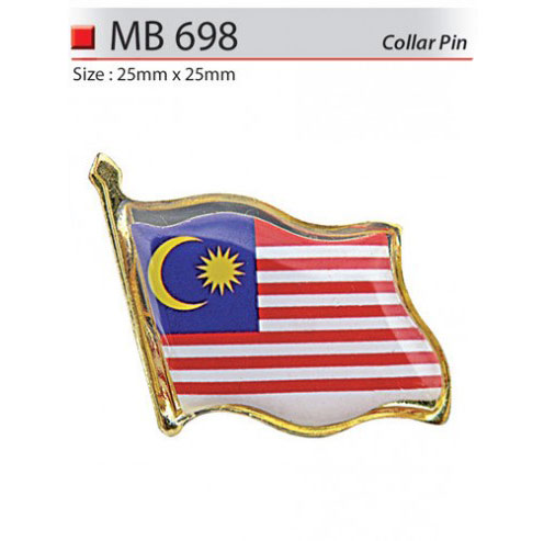 Malaysia Flag Collar Pin (MB698)