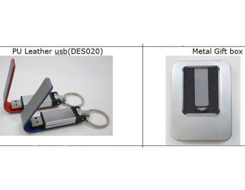 pu leather thumb drive